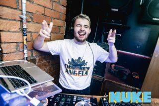 DJ Dabes djing at NUKE, Clwb Ifor Bach