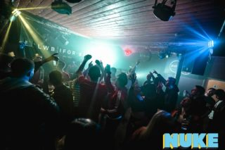 Crowd dancing at NUKE clubnight, Clwb Ifor Bach