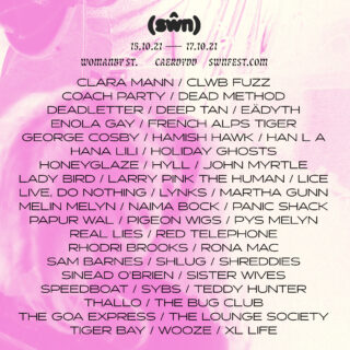 Line up for Swn Festival 2021